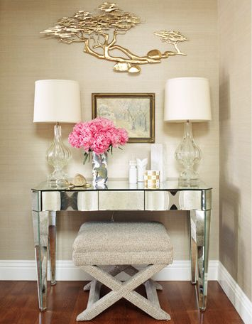 Vanity Idea- when we buy a house, I will have a girly corner in it. :)