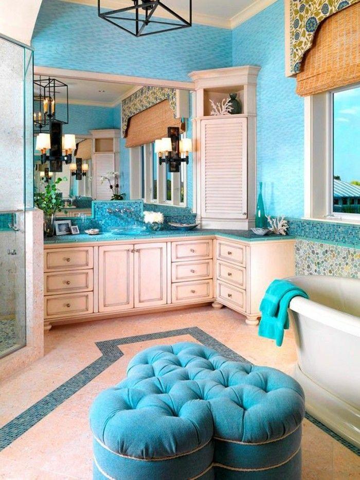 17 best images about salle de bain on pinterest belle for Salle bain turquoise