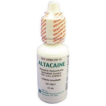 Compare to: Tetcaine, Pontocaine.  Active Ingredient: Tetracaine Hydrochloride-. 0.5%.