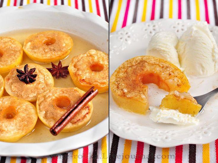 Вкусная пауза - Яблоки, запеченные в сиропе с корицей и бадьяном.