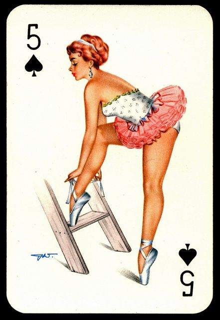 """Villiger"" Playing Card - Five of Spades by cigcardpix, via Flickr"