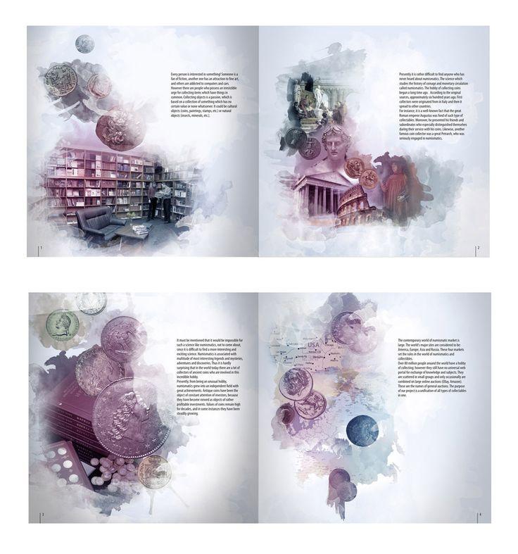 каталог нумезматики (Полиграфический дизайн) - фри-лансер Nadiia Kyrylenko [Soln].