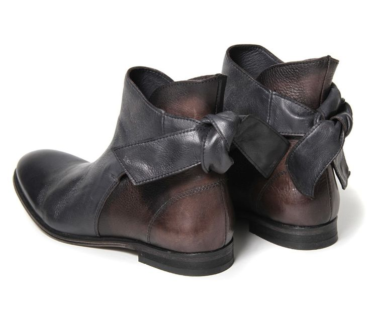Women's Etty (Black) Leather Ankle Boots | H by Hudson