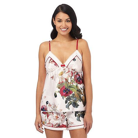 Debenhams B by Ted Baker Light Pink 'Opulent Bloom' Floral Print Pyjama Cami Top, £17.55 and Shorts, £15.75