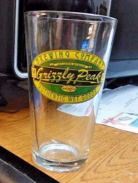 Grizzly Peak Brewing Company Glass Ann Arbor Michigan