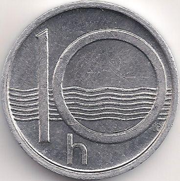 Wertseite: Münze-Europa-Mitteleuropa-Tschechien-Koruna-0.10-1993-2003