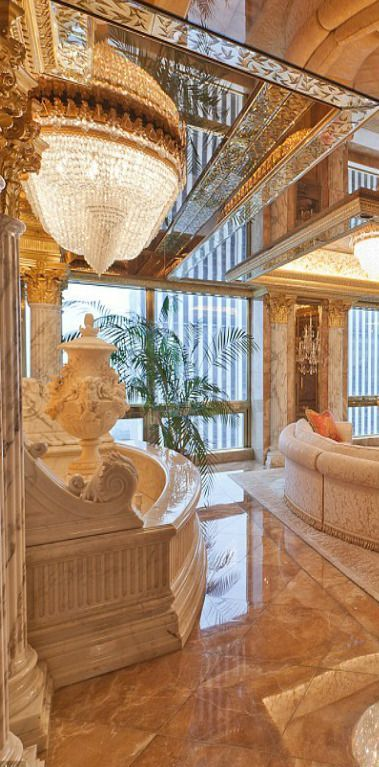 Donald and Melania Trump's New York City Penthouse. http://elegantresidences.org