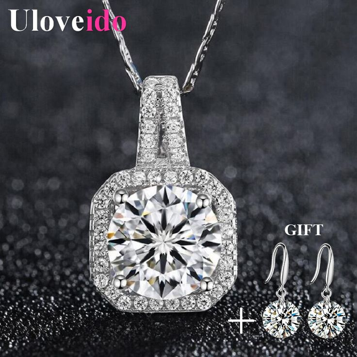 Find More Pendant Necklaces Information about Uloveido Fashion Jewelry Crystal Geometric Necklace Chain Gifts for Women Rhinestone Necklaces & Pendants Dropshipping DML116,High Quality pendant quantum,China pendants collection Suppliers, Cheap pendant chandelier from Uloveido Official Store on Aliexpress.com