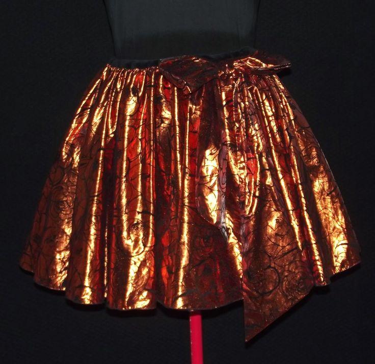 Halloween skirt cut from a '90-s dress