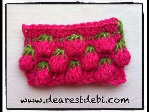TRICO y CROCHET-madona-mía: Tunisian Crochet Berry Stitch( crochet Tunisiano)