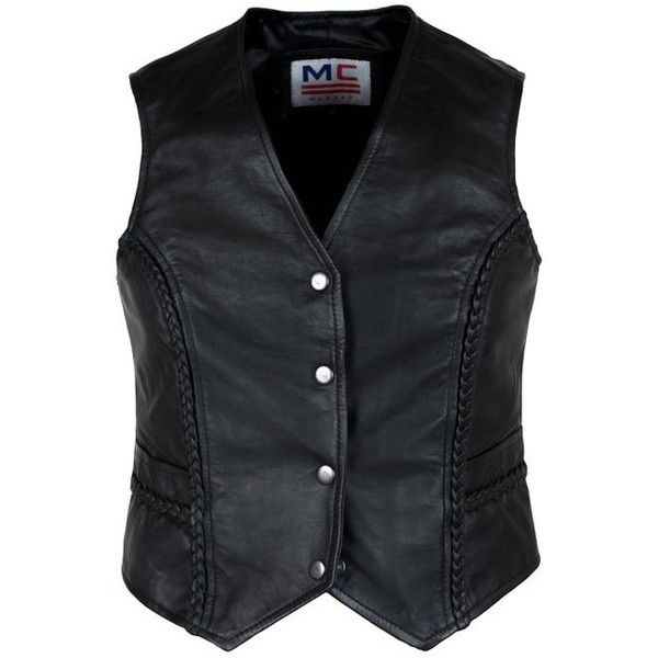 Ladies Women Real Leather Motorcycle Biker Waistcoat/ Vest:... ($57) ❤ liked on Polyvore featuring outerwear, vests, leather biker vest, genuine leather vest, leather vest, vest waistcoat and biker vest