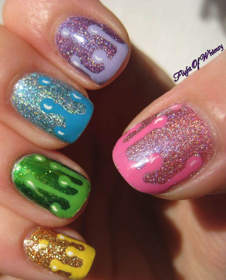 22 best Rainbow nails images on Pinterest | Cute nails, Nail ...