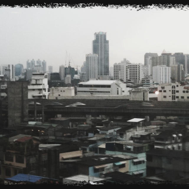 Thailand has many high tech and luxurious buildings and yet tucked near by are slums. It's an oxymoron of a country...