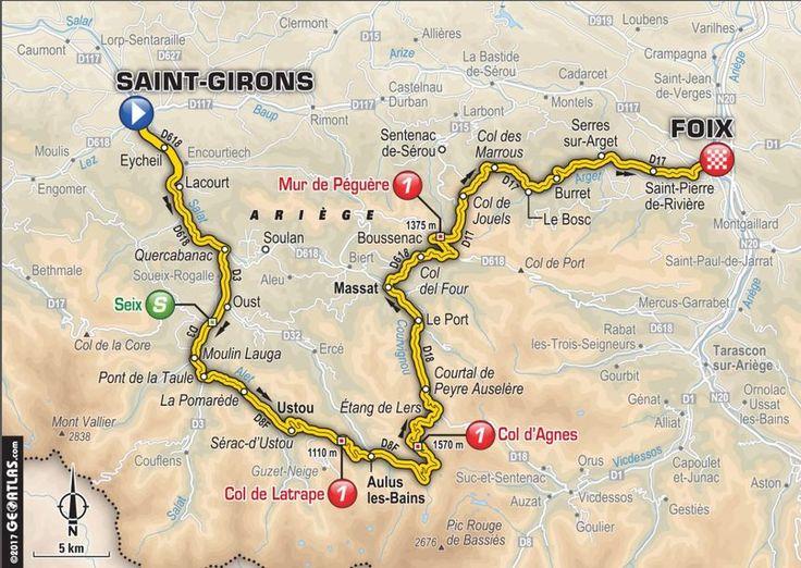 Le tracé de la 13e étape du Tour de France 2017 - Aucun(e)