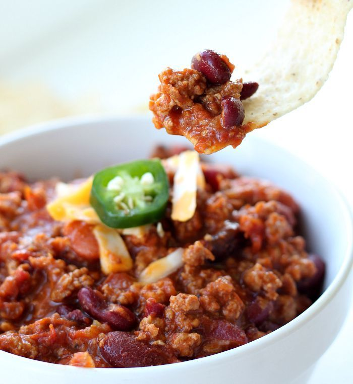 Seriously, This Chili Recipe is the BEST and so simple! The flavor is extra awesome with half beef half Hot Italian Sausage. ~ http://reallifedinner.com