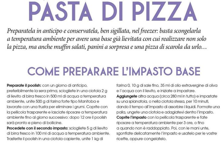 Polish impasto base pizza