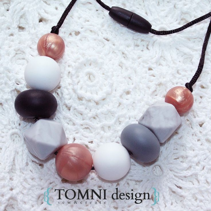 9MIX - Classic Rose Gold Neutrals Silicone Beads Necklace