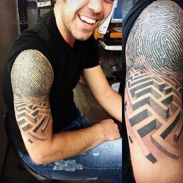 34 best 3d sleeve tattoos for men images on pinterest. Black Bedroom Furniture Sets. Home Design Ideas