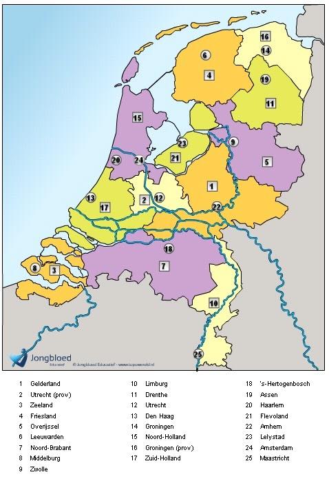 Topografie van Nederland oefenen