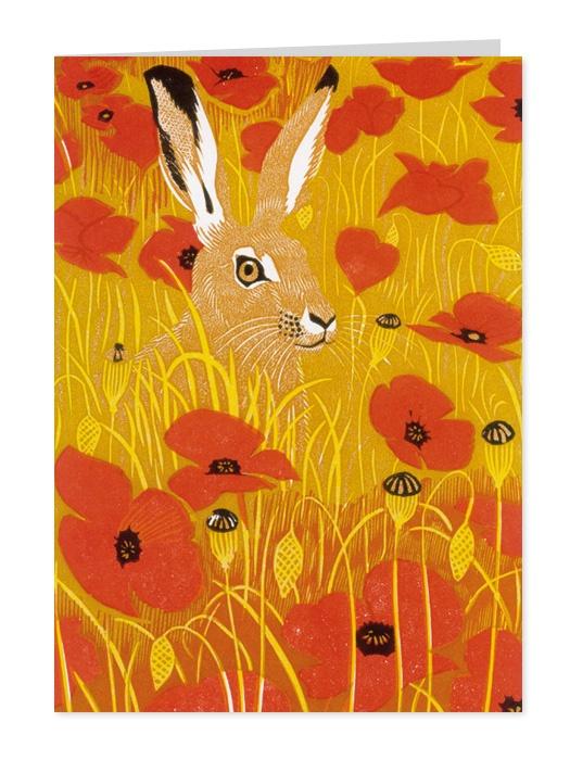 Hare amongst Poppies by Robert Gillmor