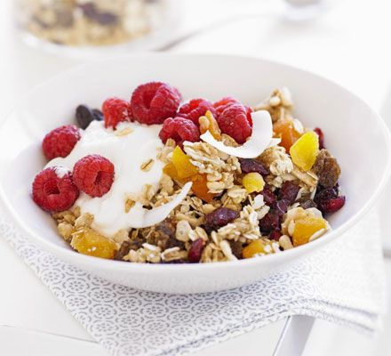 Rise and shine with this energy-boosting breakfast, topped with fresh fruit