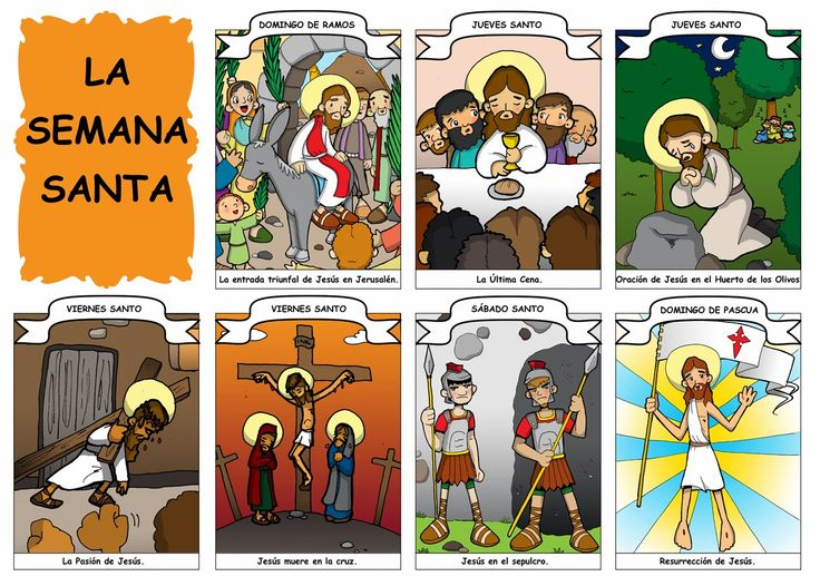 Dibujos para catequesis - Semana Santa