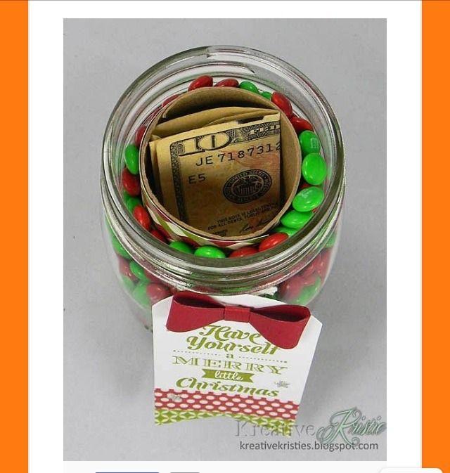 Put A Toilet Paper Roll Inside A Mason Jar Filled With Candy To Hide A Small…