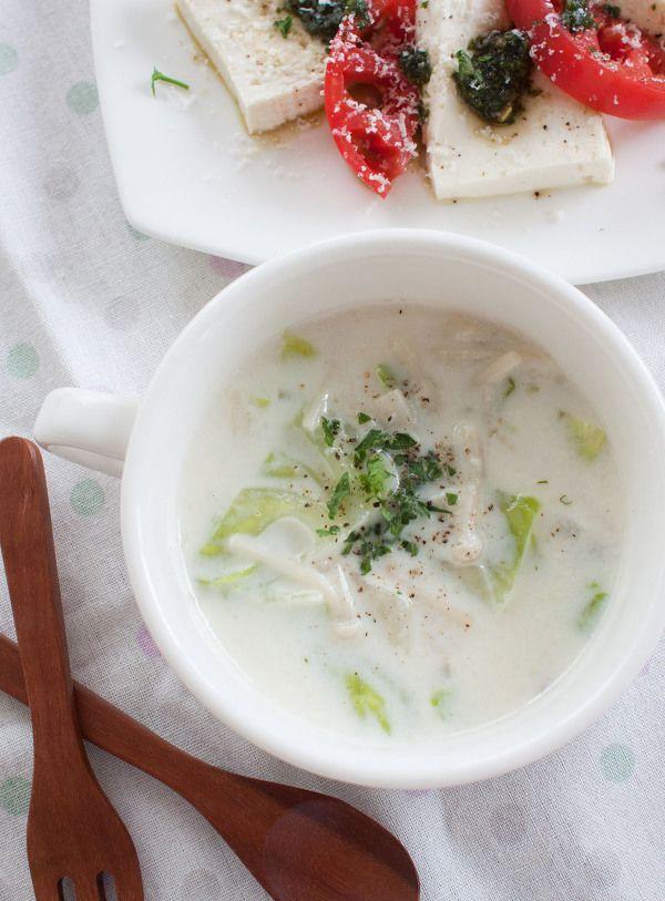 キャベツとえのきのジンジャーミルクスープ by tomo | レシピサイト ...