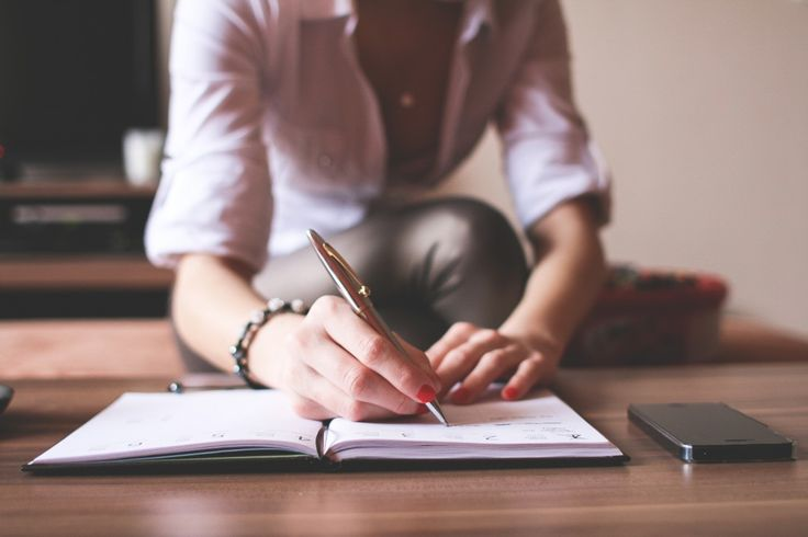 Free image: Girl Writing in a Diary