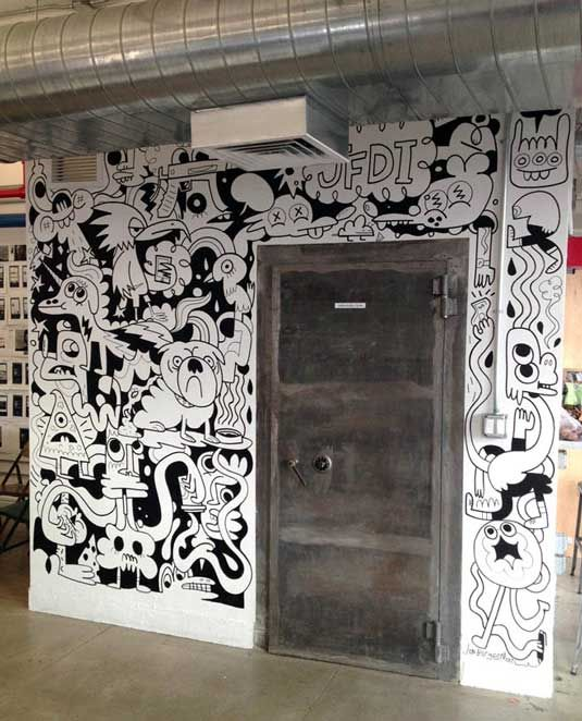 12 Incredibly Cool Design Office Murals | Agencies | Creative Bloq