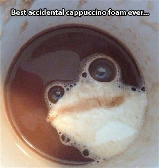 coffee foam clean funny
