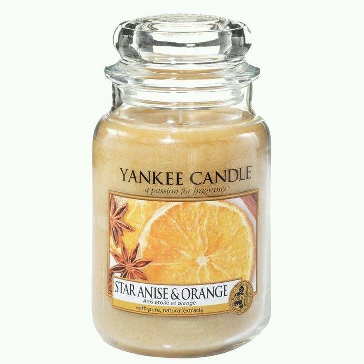 Yankee 'Star Anise & Orange' Scented Large Yankee Jar Candle. Brand New