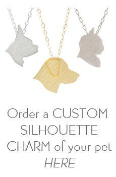 Custom Silhouette Charm Keepsake, dog necklace, cat necklace, pet jewelry - Gold-Dipped sterling silver