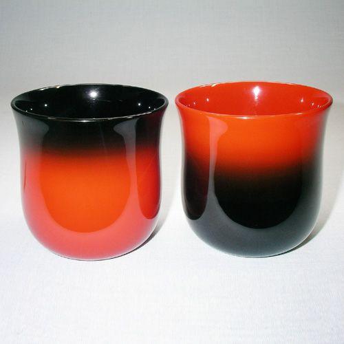 輪島塗 フリーカップ(M) 【無地ペアギフト】-サンバースト仕様-【桐箱入り】