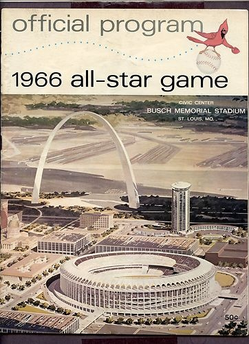 1966 All Star Game Program Hosted by St Louis Cardinals Scored | eBay