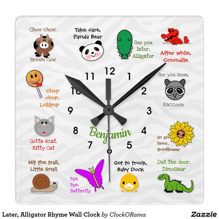 See You Later, Alligator Kids' Wall Clock