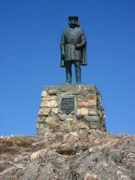 - A statue of the famous explorer, John Cabot, adorns the harbourside at Cape Bonavista in Newfoundland, John Cabot was a famous explorer who landed at either Cape Bonavista, Newfoundland, possibly St. John's, the exact location is unknown, in June of 1497. The government recognizes Cape Bonavista as his official landing spot where he stayed ashore and claimed the land.
