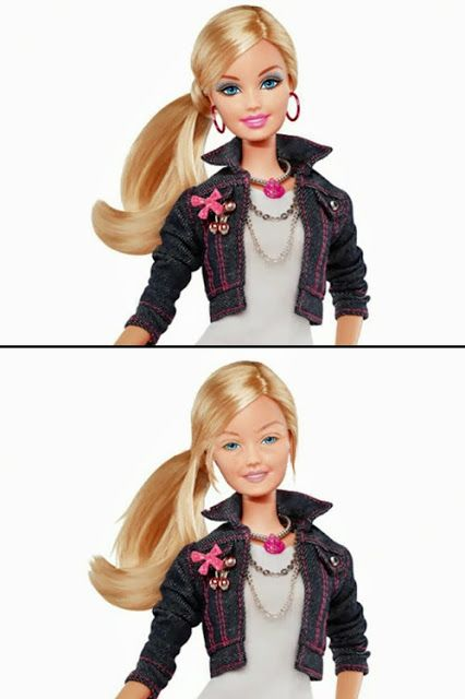 Barbie without makeup. #Funny no makeup for barbie!! its not perfect but its natural