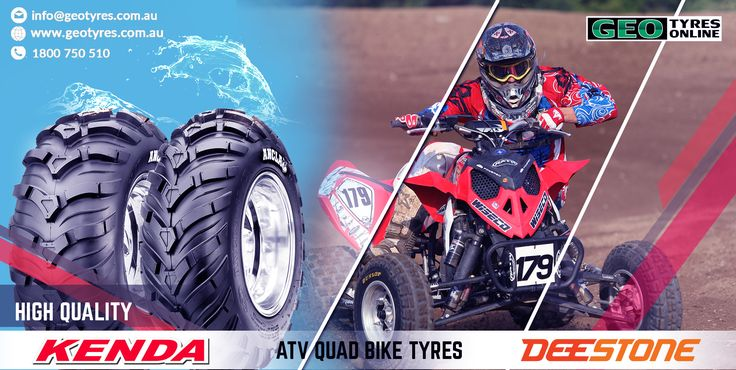 GEO offers the best range of tyres for ATVs & QUAD bikes. Top brands #Kenda and #Deestone. Quality #ATV tyres at discounted prices online at #GEO #Tyres.