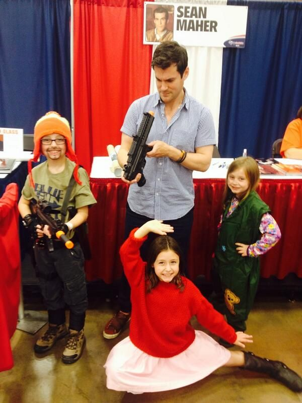 Mini Firefly crew with Sean Maher at Dallas Comic Con!