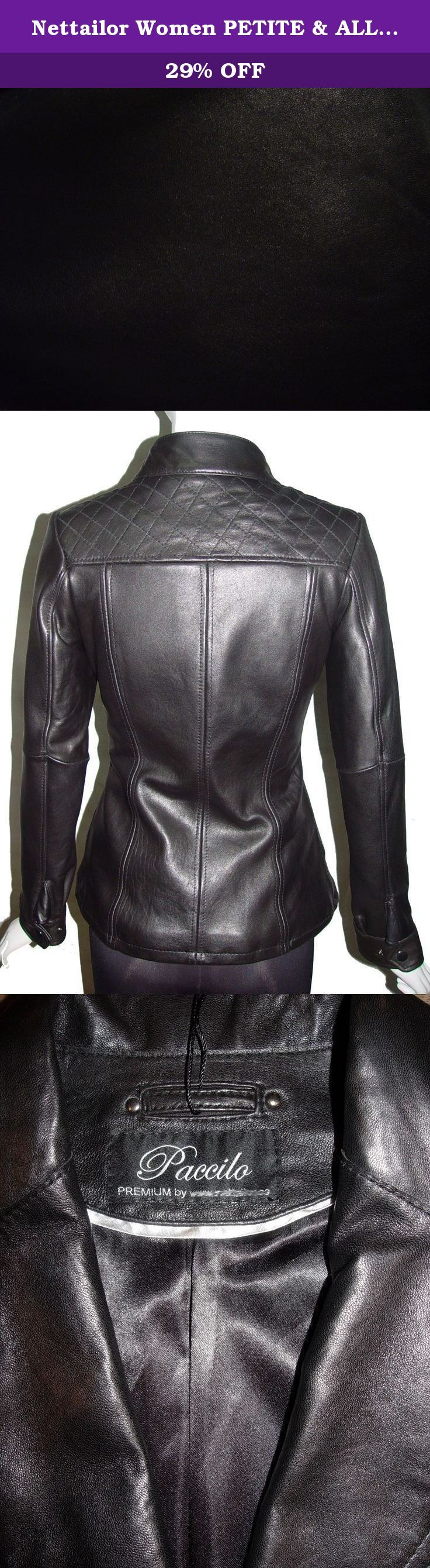 "Nettailor Women PETITE & ALL SIZE Fashion 4139 Leather Motorcycle Jacket. Lambskin, Stand Up Collar, Zip Front, No Insulation. Not all leather is the same. When vendors say or state, ""leather or genuine leather"", they generally use ""pig skin"", which is the worst quality of leather and therefore inexpensive. If you choose to buy ""leather or genuine leather"" only because of its cheap price, you will mostly end up buying ""pig skin"" leather ($50-$150 price range). Lambskin, pigskin and…"