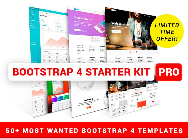 28 best Bootstrap 4 themes images on Pinterest