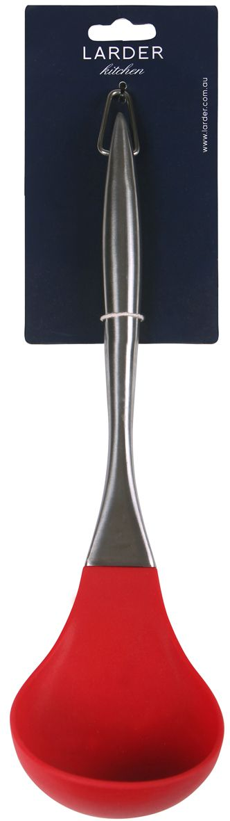 Soup Ladle -   Serve soup, stew, and transfer liquids with LARDER's Soup Ladle. Its deep silicone ladle makes for light work. It has a stainless steal handle and is dishwasher safe.   larder.com.au