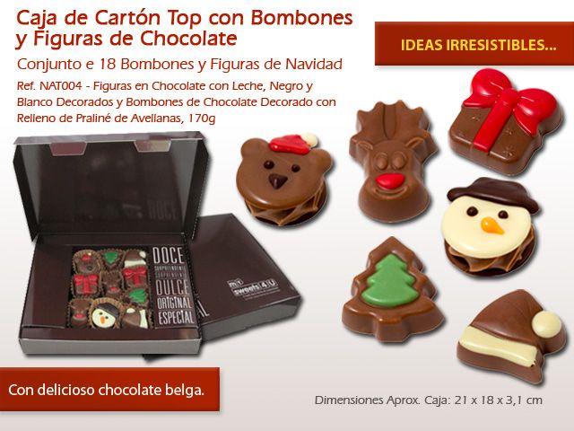 Con nuestras figuras de chocolate alusivos a la Navidad puedes decorar su pastel Natalicio de forma muy original. Ver las opciones aquí:http://www.mysweets4u.com/es/?o=2,5,44,49,4,0