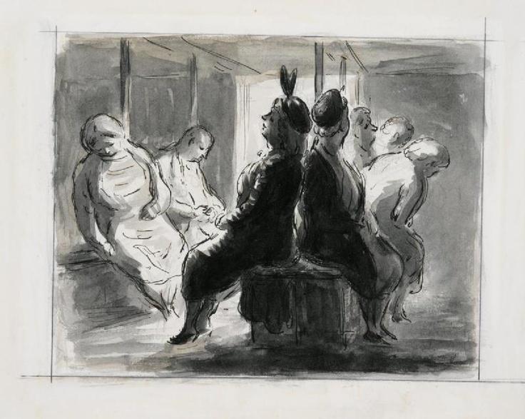 Edward Ardizzone  -  Shelter Scene  - 1940