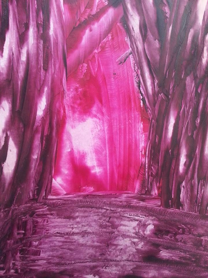 Enkaustika+jeskyně+Rozměr+22x16