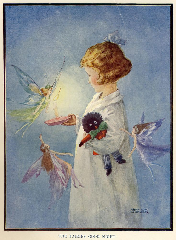 The Fairies' Good Night - Grace Jones, 1920  .i I,m pinning this one mainly for the golly which are so frowned on now.