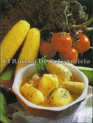 Sancocho de gallina.  Plato típico colombiano.
