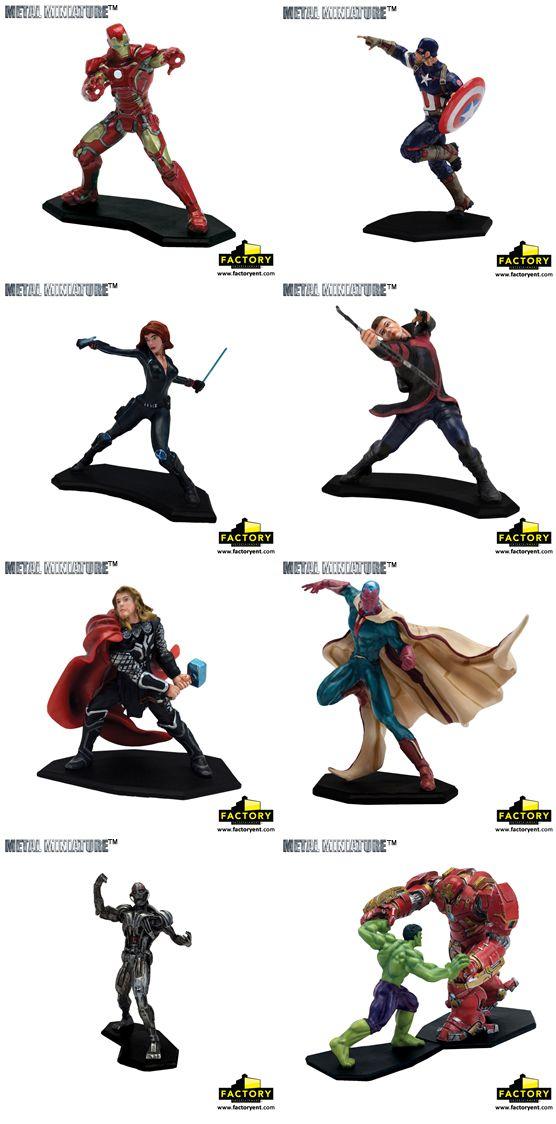 Factory Entertainment Presents: Avengers Metal Miniatures