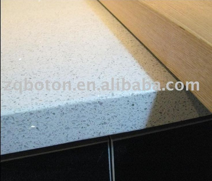 Pure White Mirror Flecks Sparkle Quartz Countertop Quartz